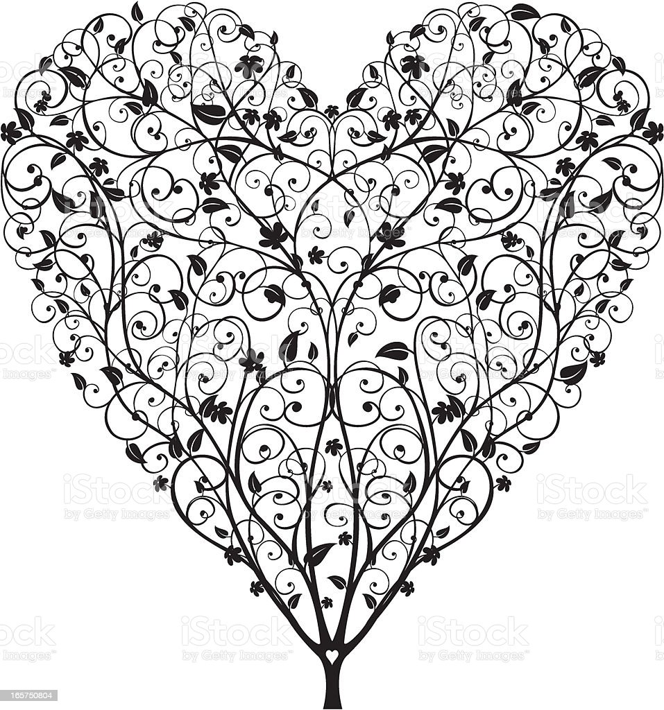 Heart Shaped Tree royalty-free stock vector art