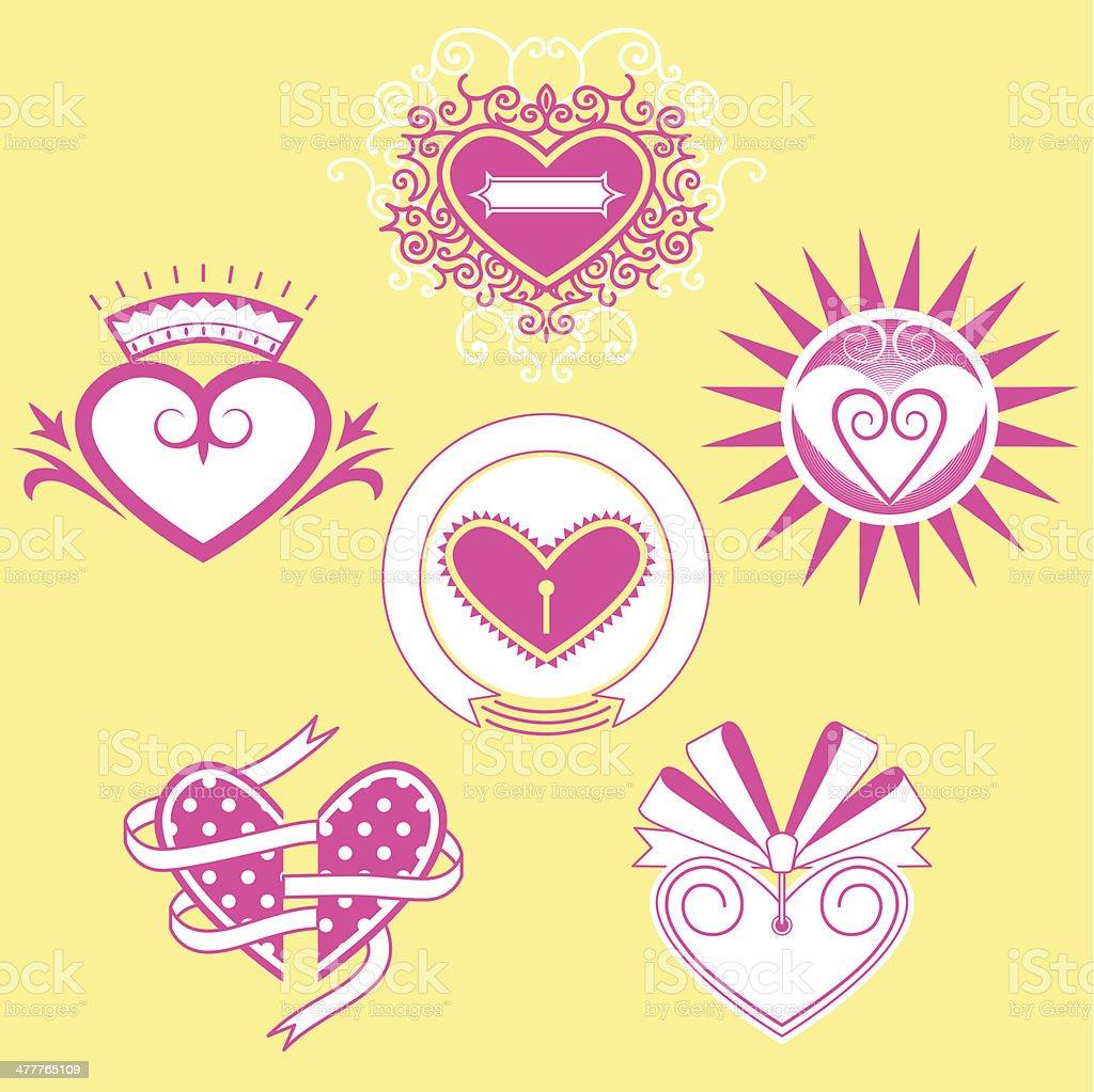 heart shapes royalty-free stock vector art