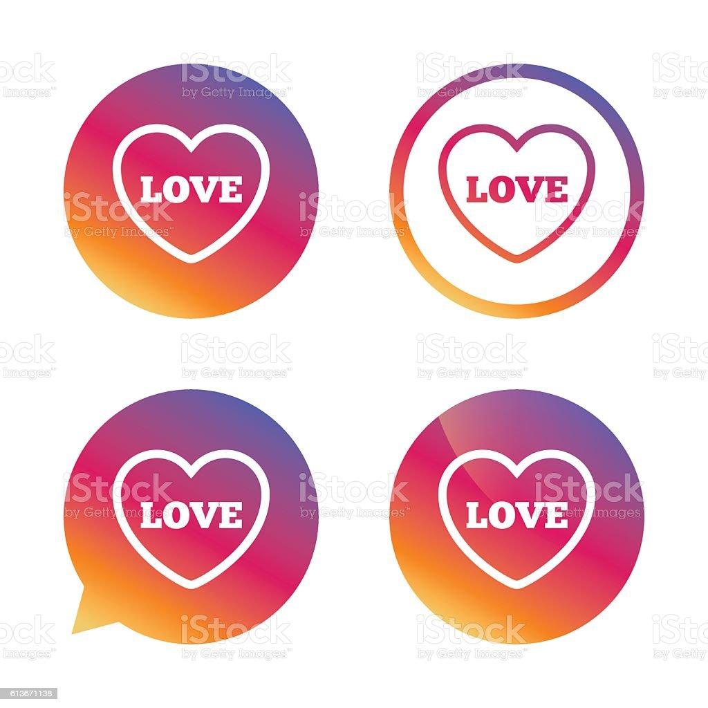 Heart Sign Icon Love Symbol Stock Vector Art 613671138 Istock