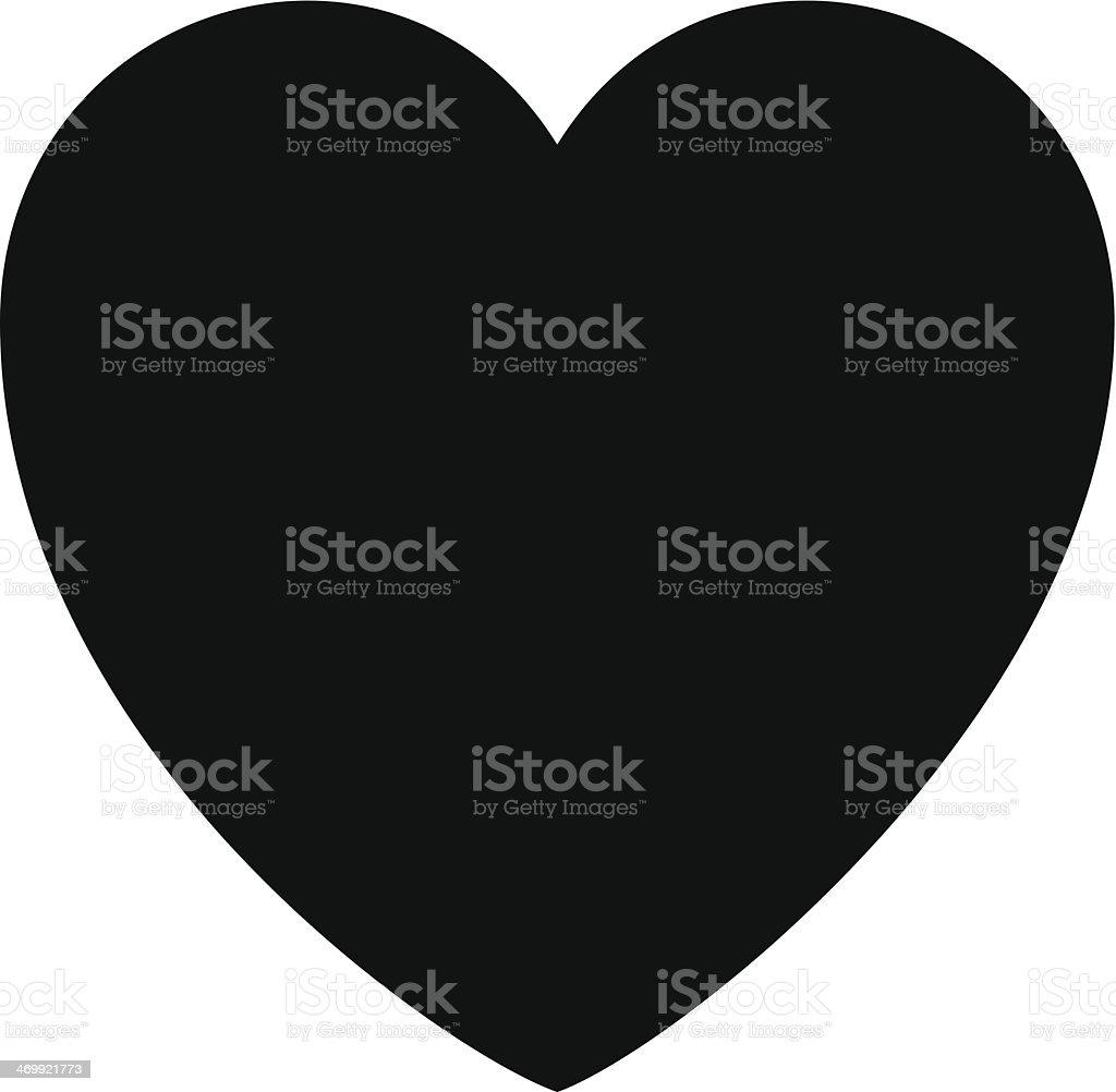 Heart Silhouette royalty-free stock vector art