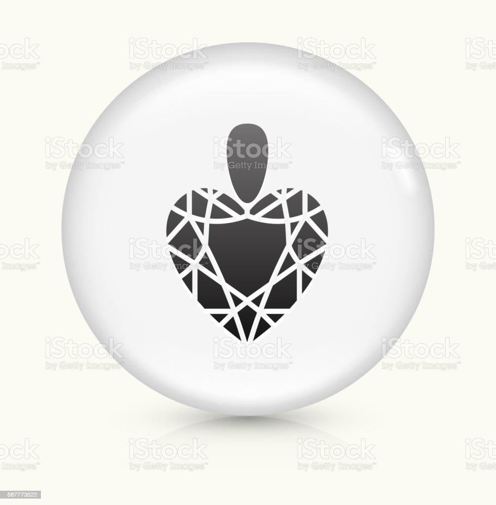 Heart Stone icon on white round vector button vector art illustration