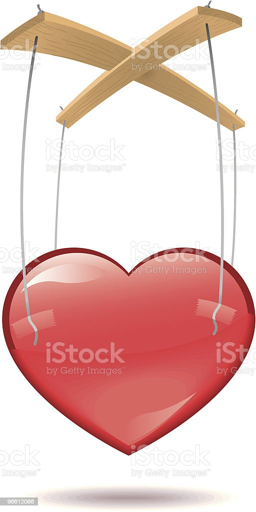 Heart strings royalty-free stock vector art