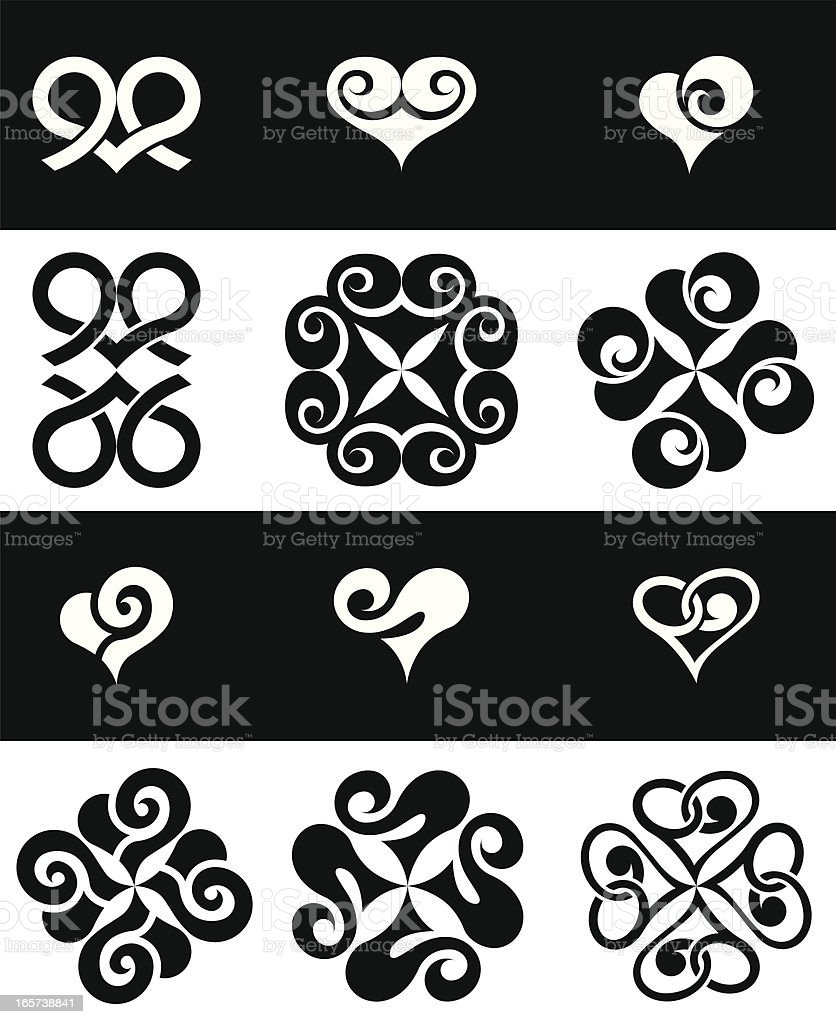heart style design 1 royalty-free stock vector art
