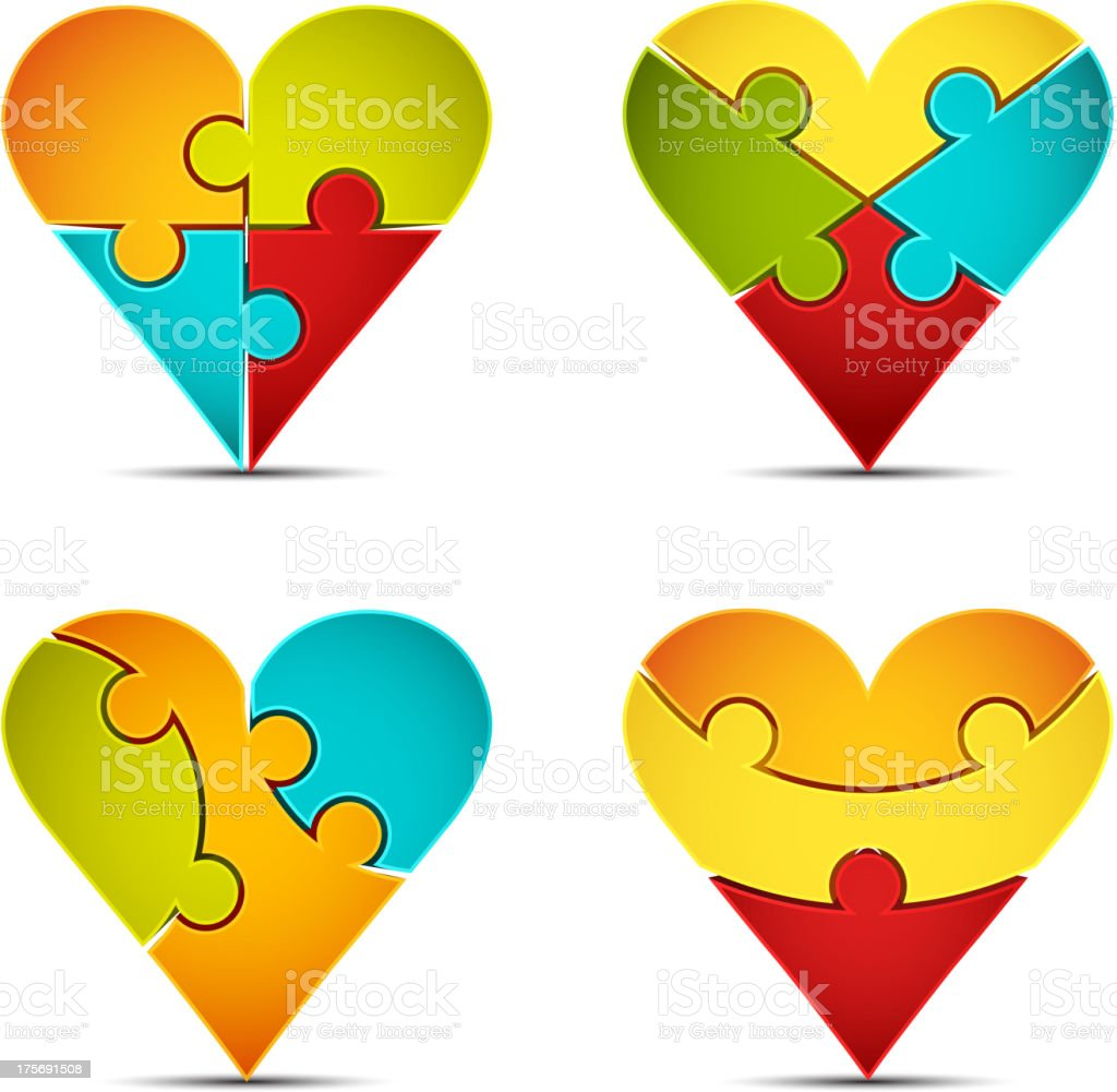 Heart suit icons royalty-free stock vector art