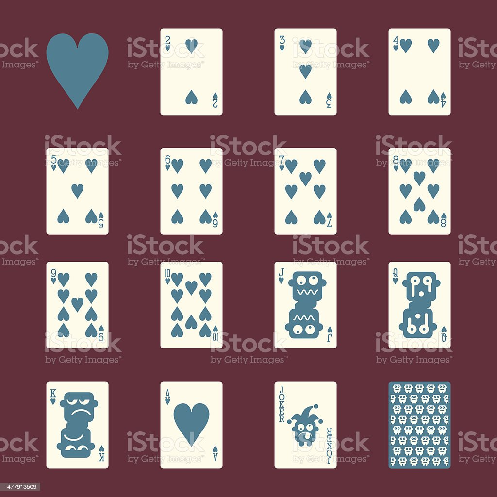Heart Suit Playing Card Icons - Color Series | EPS10 royalty-free stock vector art