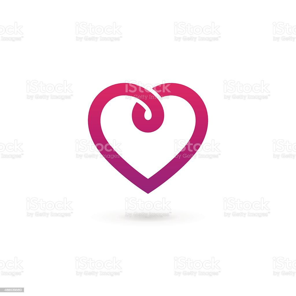 Heart symbol icon design template vector art illustration