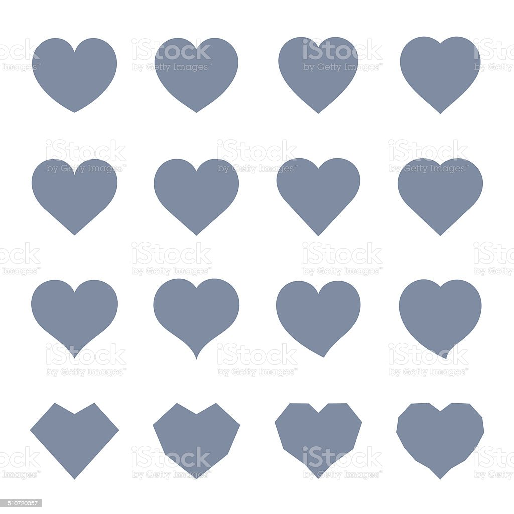 Heart Symbol Set vector art illustration