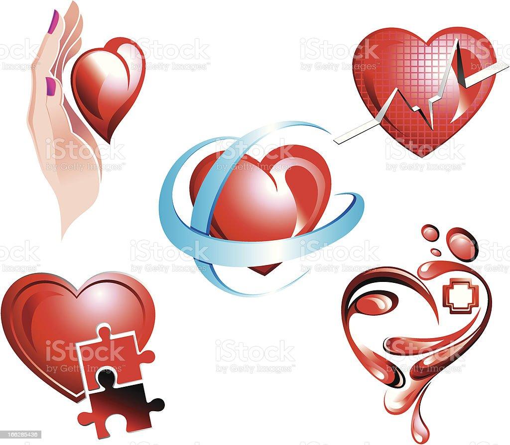 Heart symbols royalty-free stock vector art