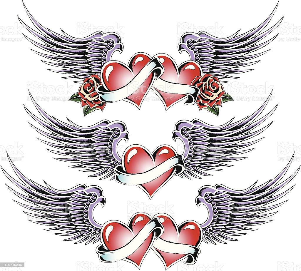 Tatuaggio a cuore design illustrazione royalty-free