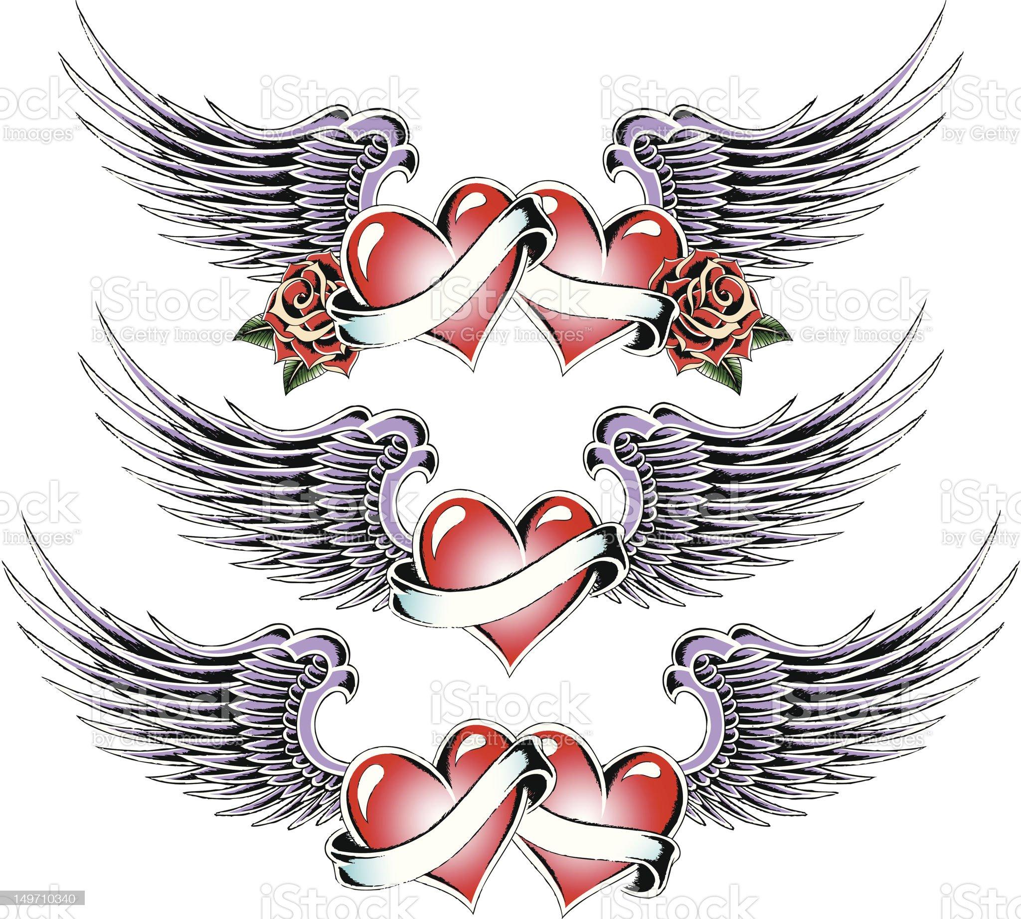 heart tattoo design royalty-free stock vector art