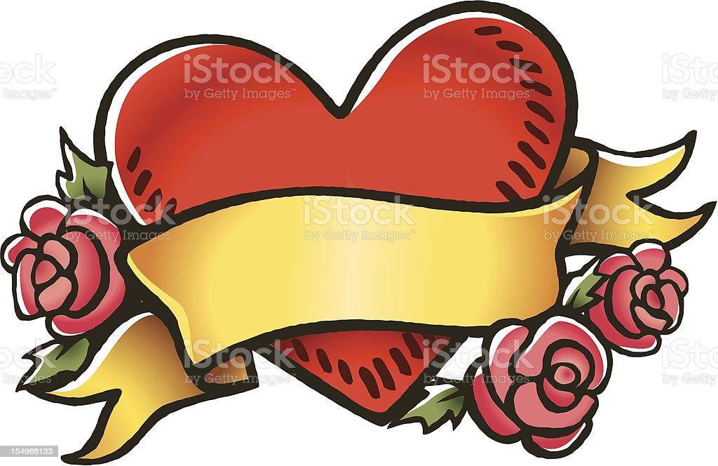 Heart Tattoo vector art illustration