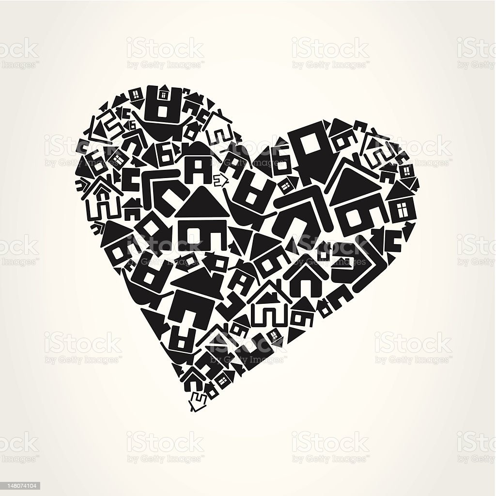 Heart the house royalty-free stock vector art