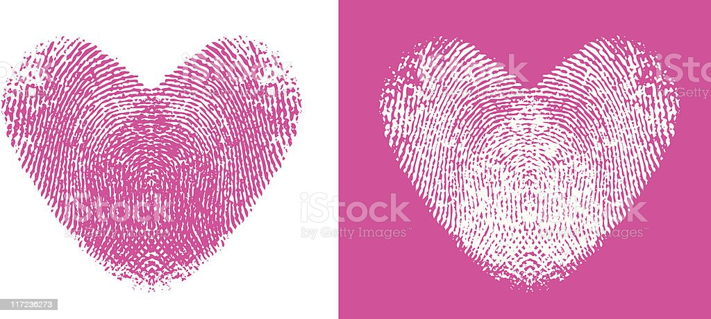 Heart Thumbprints royalty-free stock vector art