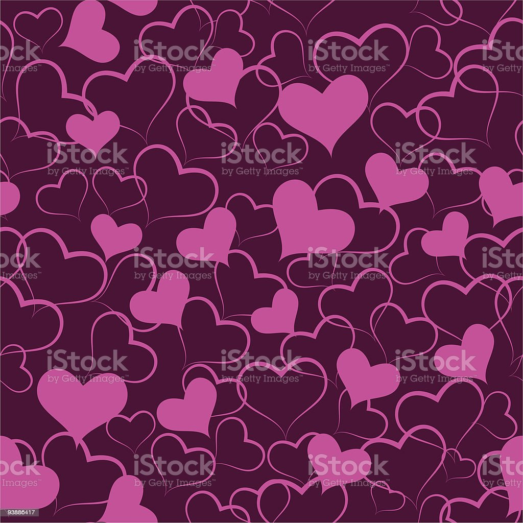 Heart to the St.Valentine royalty-free stock vector art