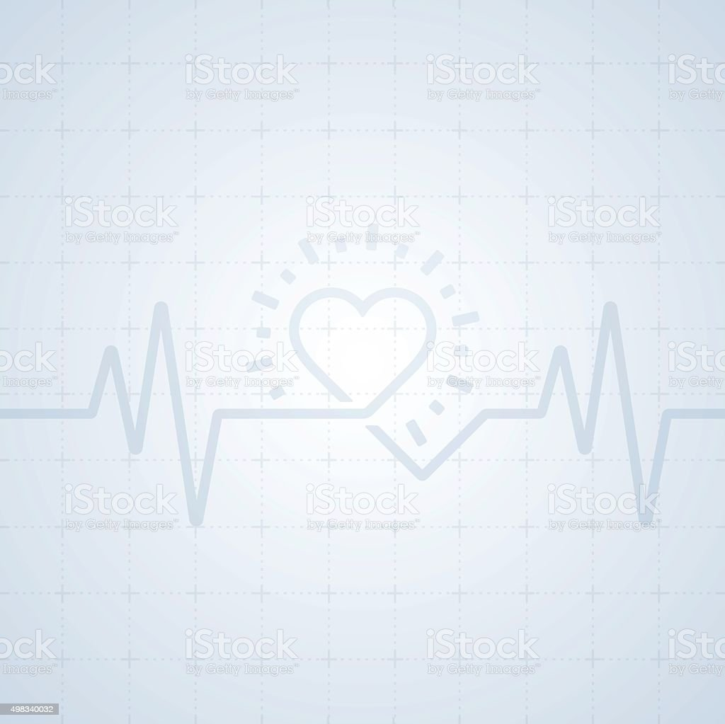 Heart Trace Background vector art illustration