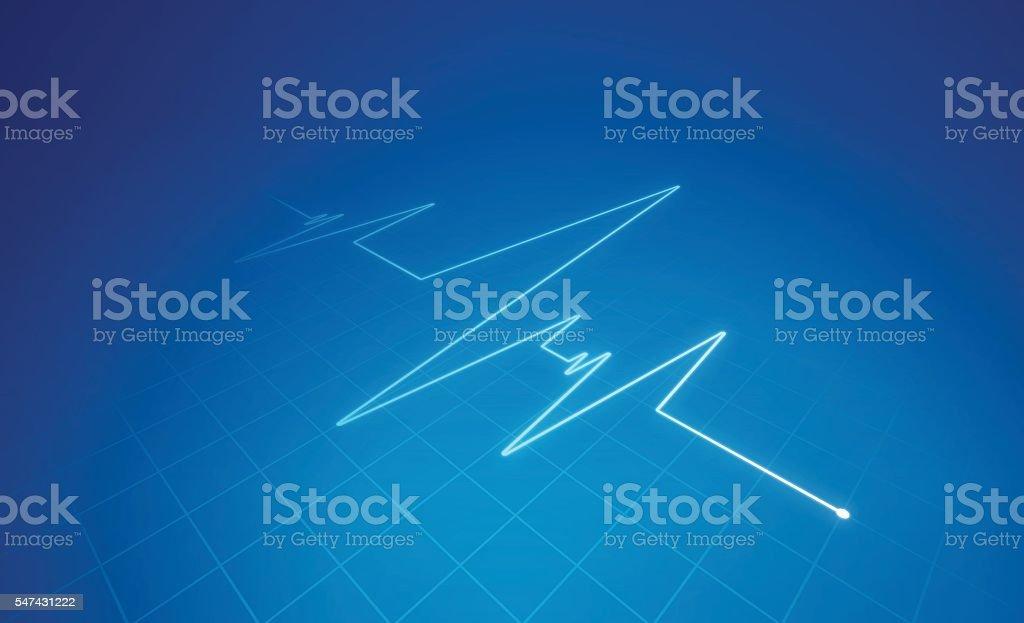 Heart Trace Medical Background vector art illustration