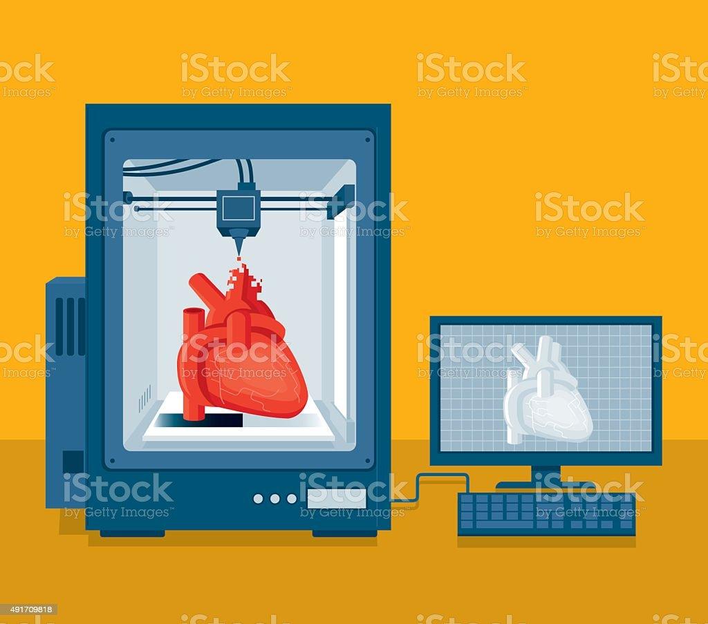 Heart transplant vector art illustration