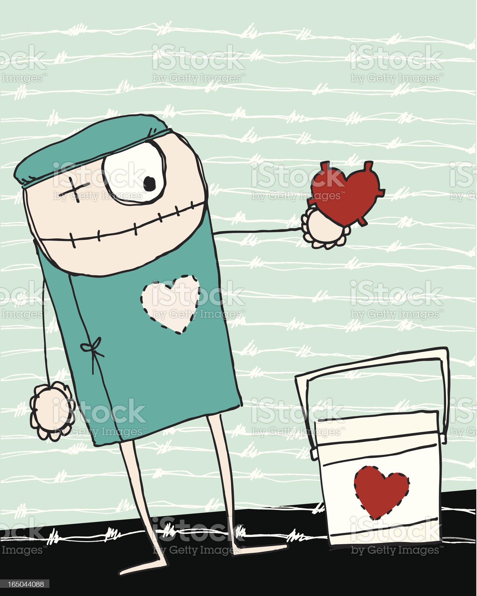 heart transplantation royalty-free stock vector art