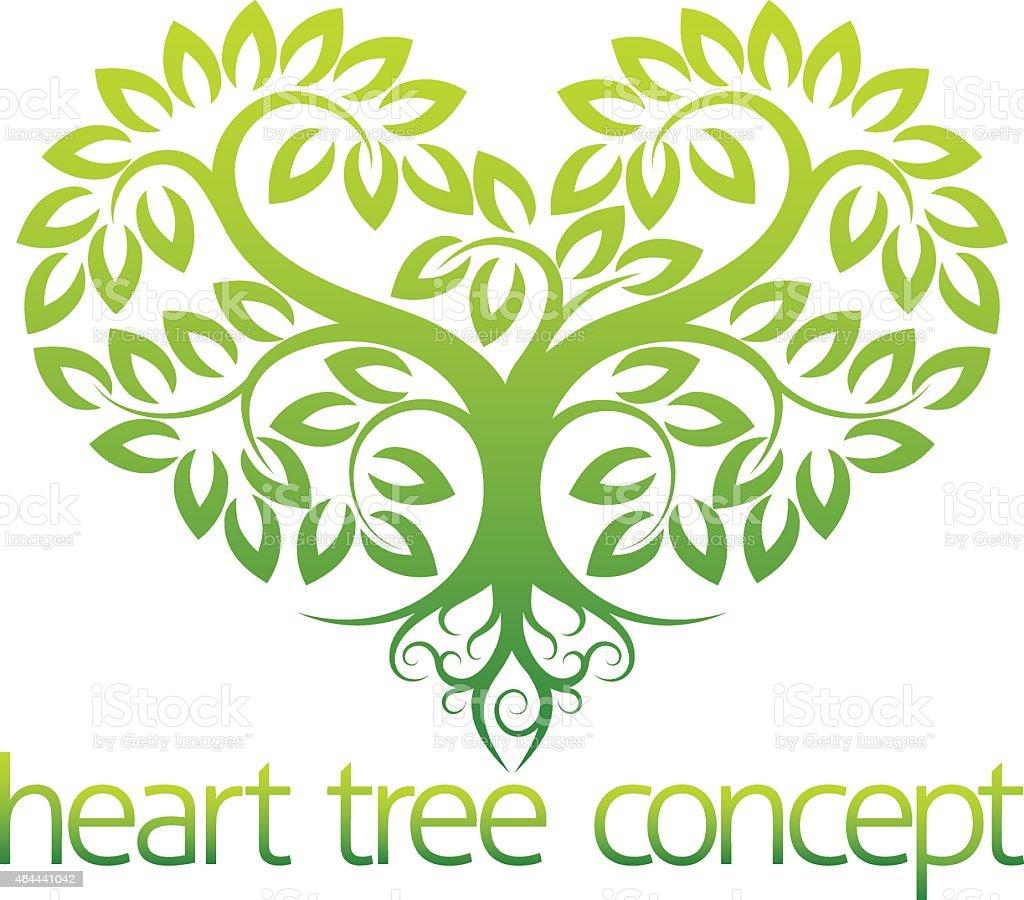 Heart tree concept vector art illustration