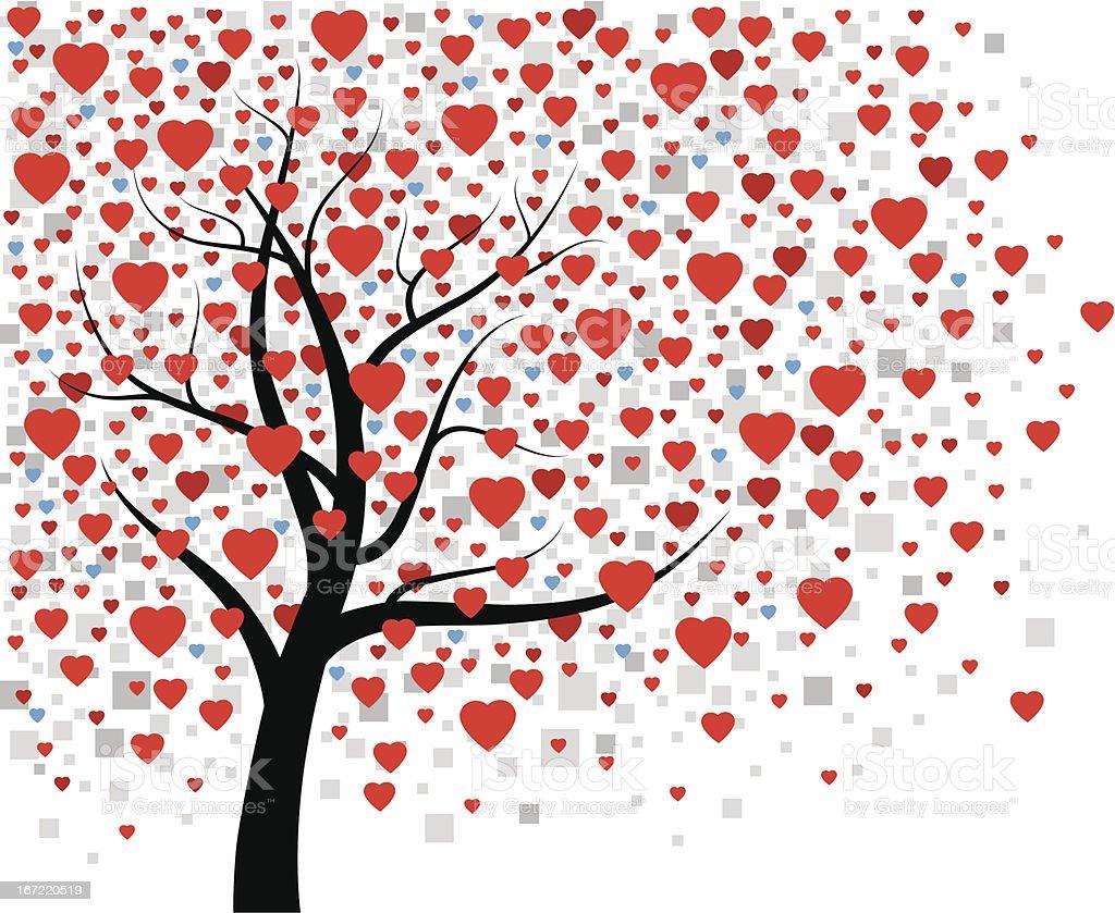 Heart Tree royalty-free stock vector art