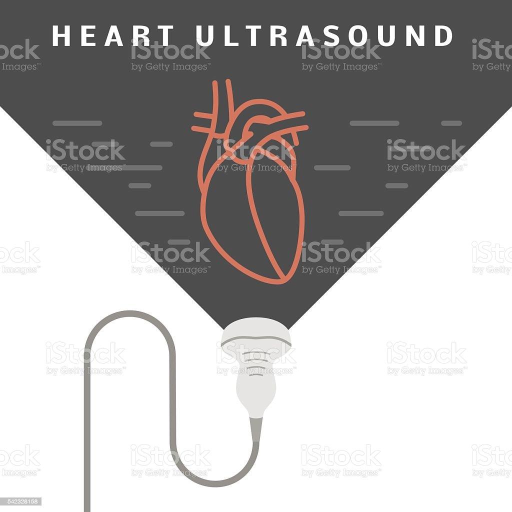 Heart ultrasound concept vector art illustration