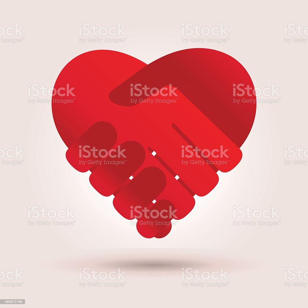 Heart vector art illustration