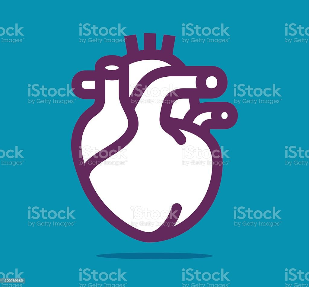 Heart vector art illustration