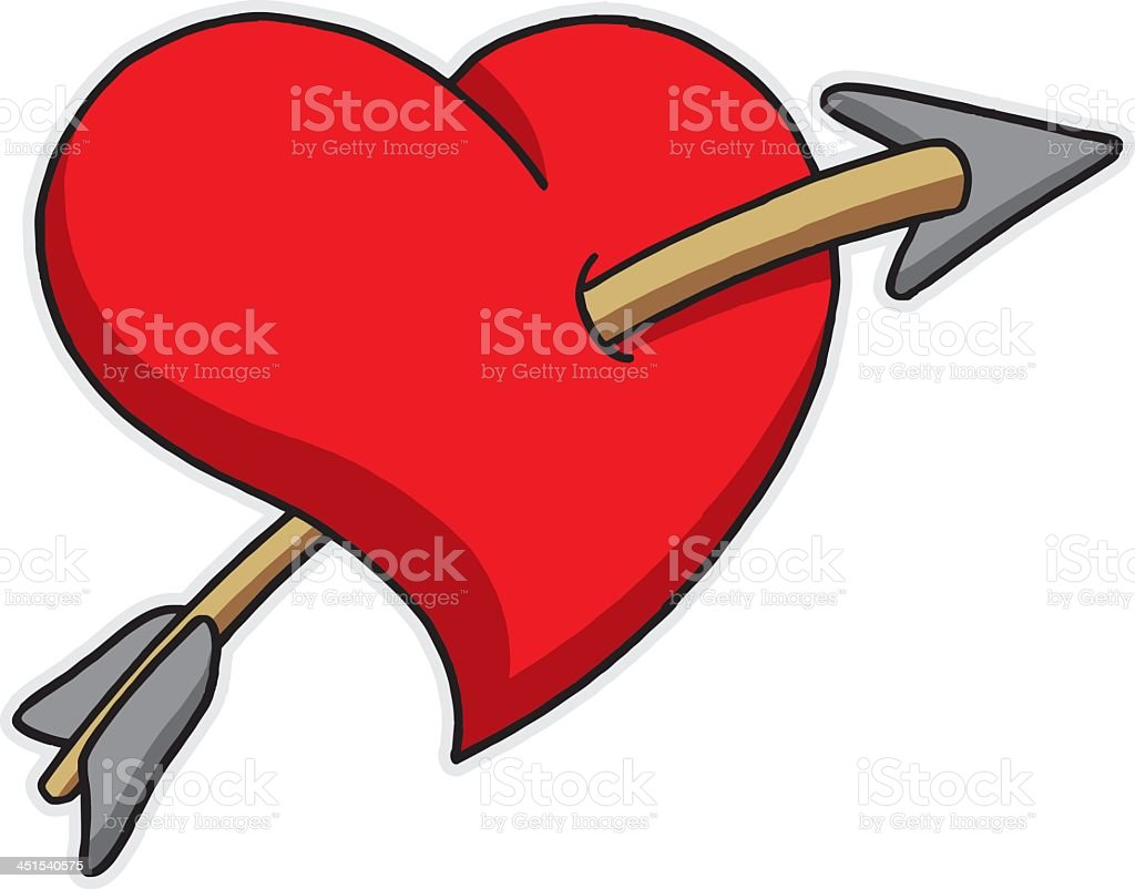 Heart with Arrow vector art illustration