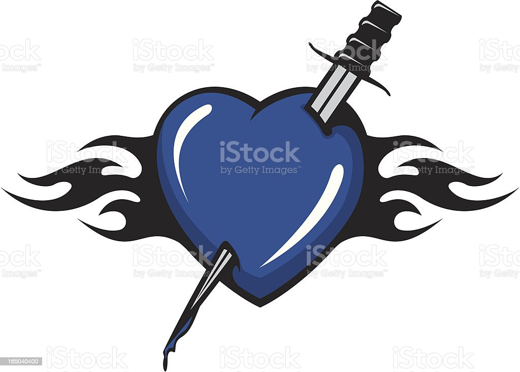 Heart With Dagger royalty-free stock vector art