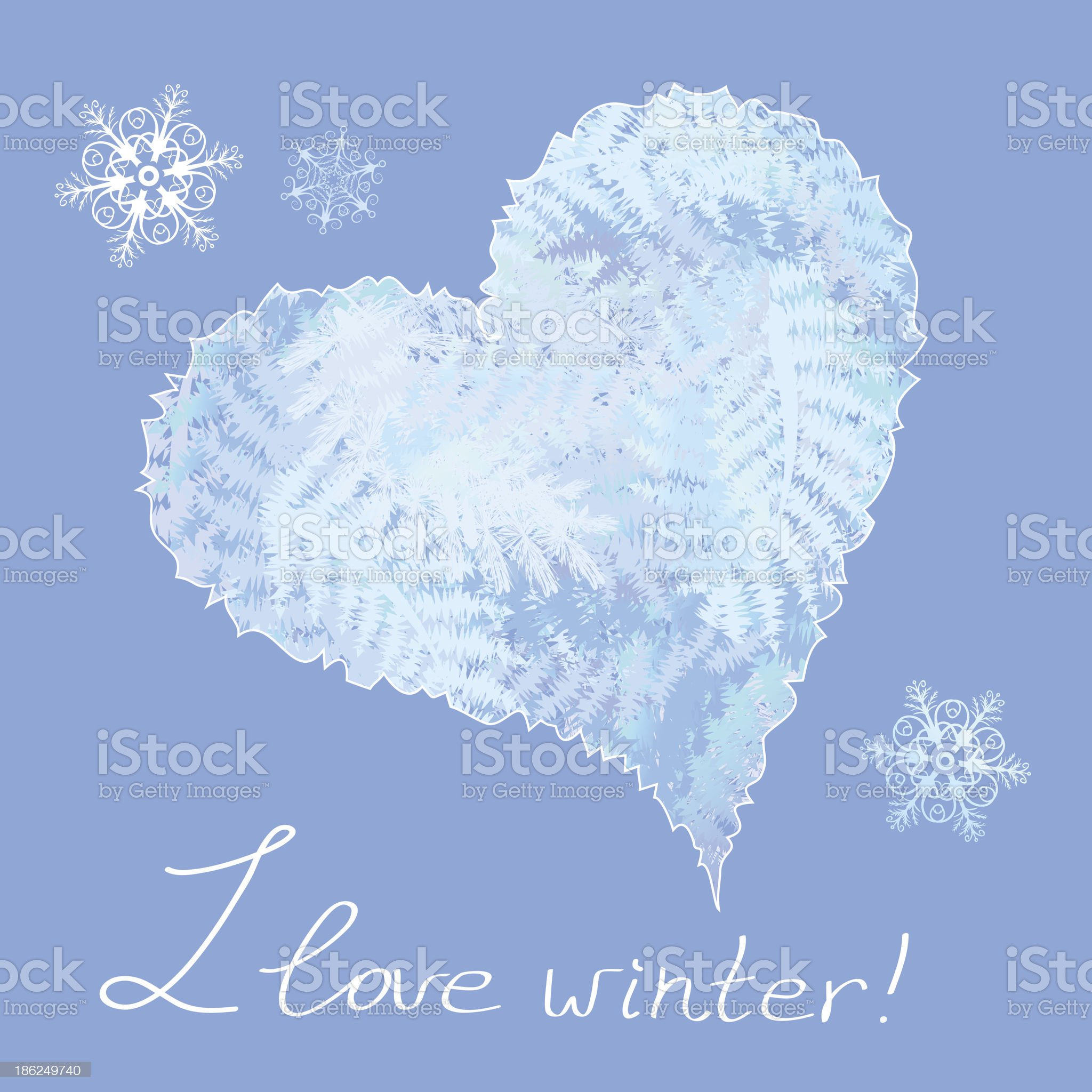 heart with frosty patterns royalty-free stock vector art