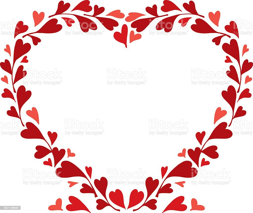heart wreath royalty free stock vector art