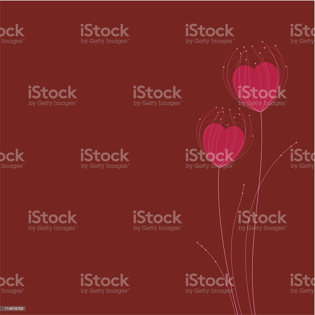 heart_flowers royalty-free stock vector art