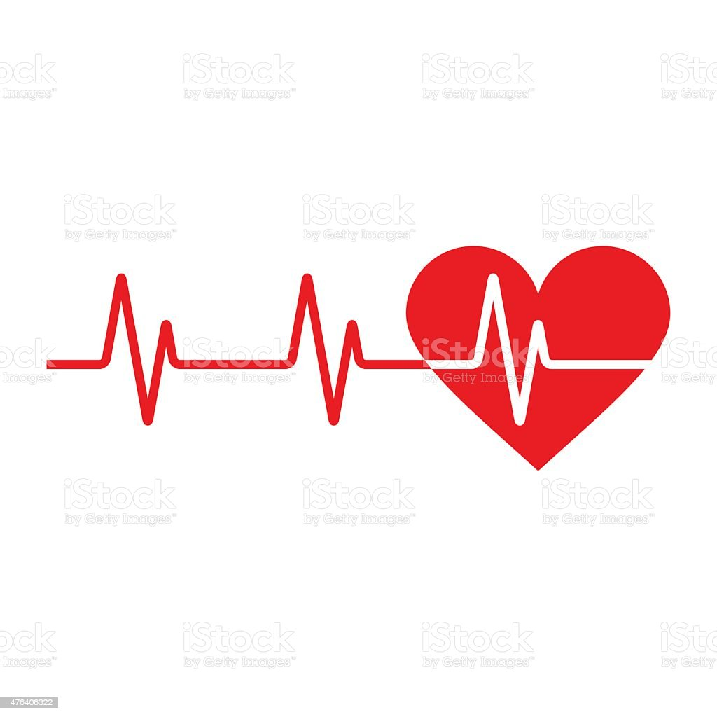 Heartbeat icon vector art illustration