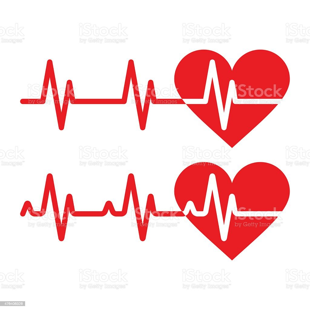 Heartbeat icons vector art illustration