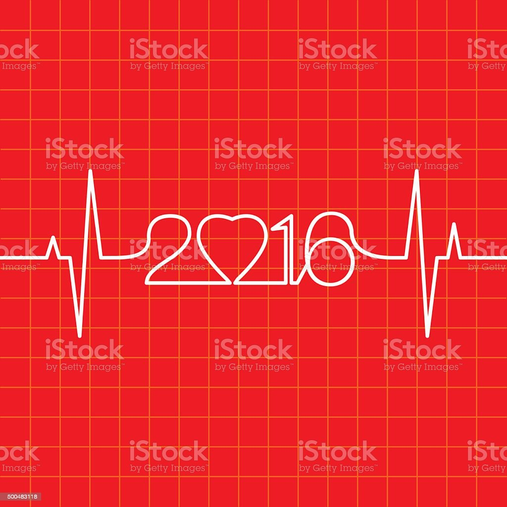 Heartbeat Make 2016 vector art illustration