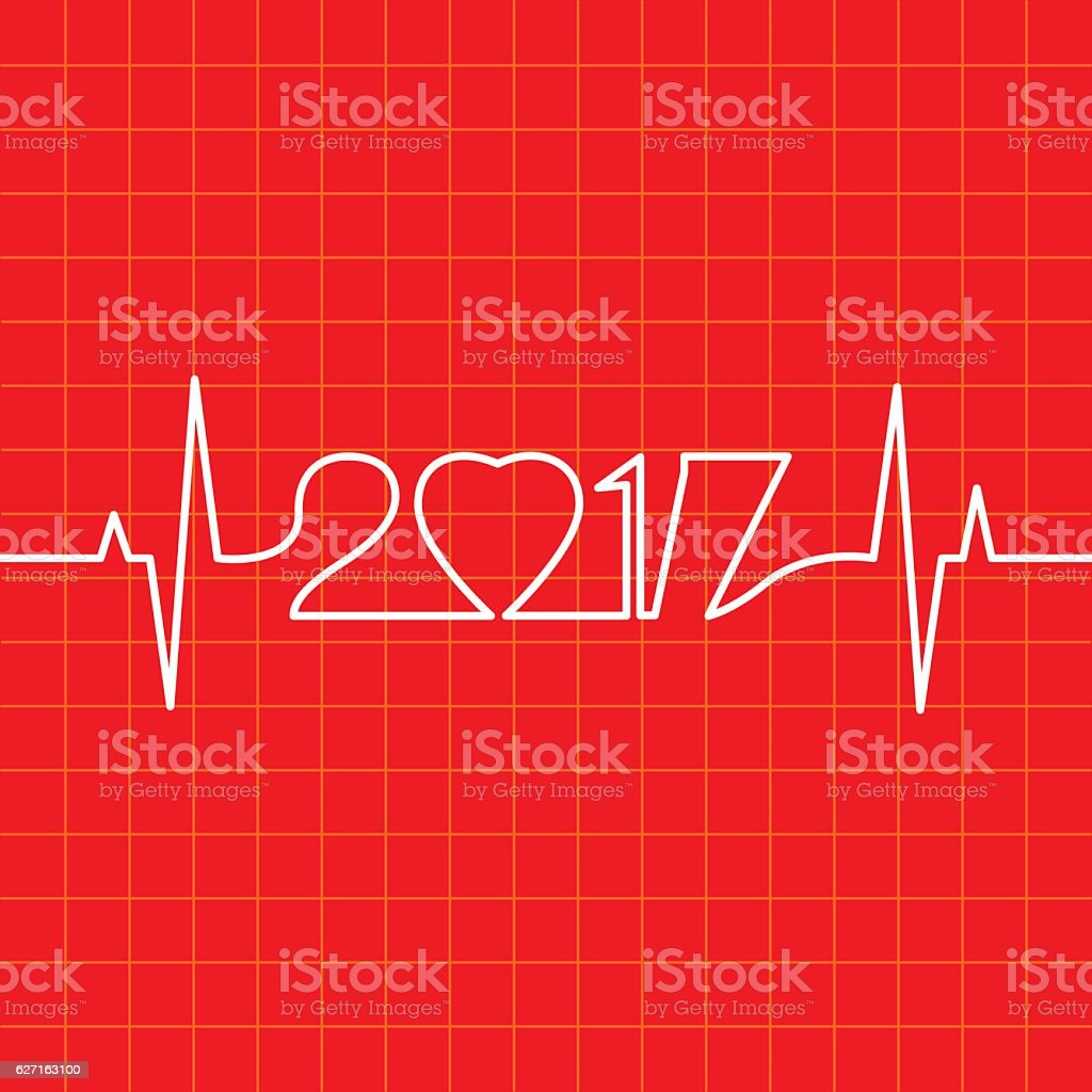 Heartbeat Make 2017 vector art illustration
