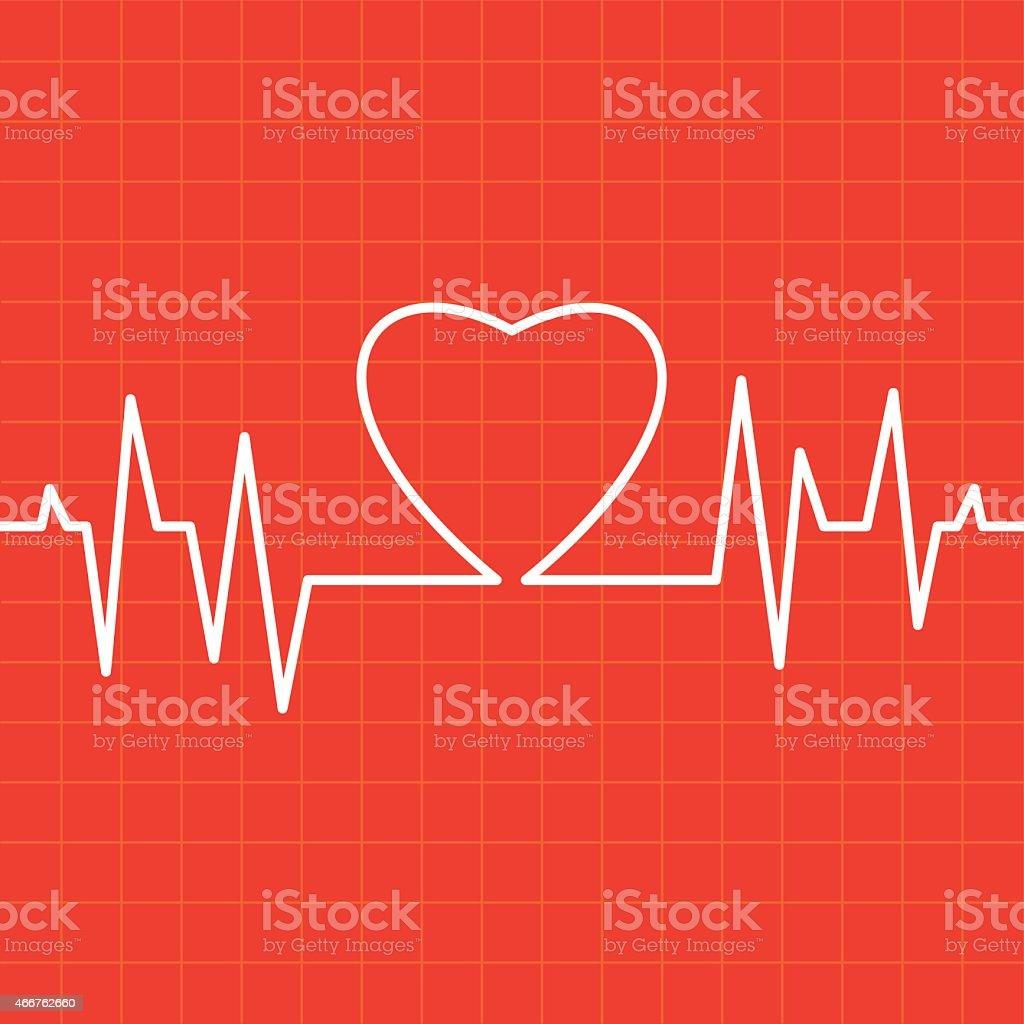 Heartbeat Make Heart vector art illustration