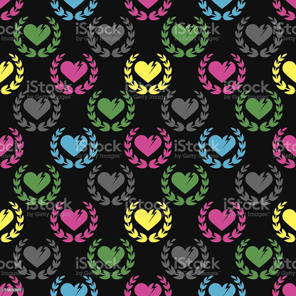 Heartbreak, Inc. (Seamless) vector art illustration
