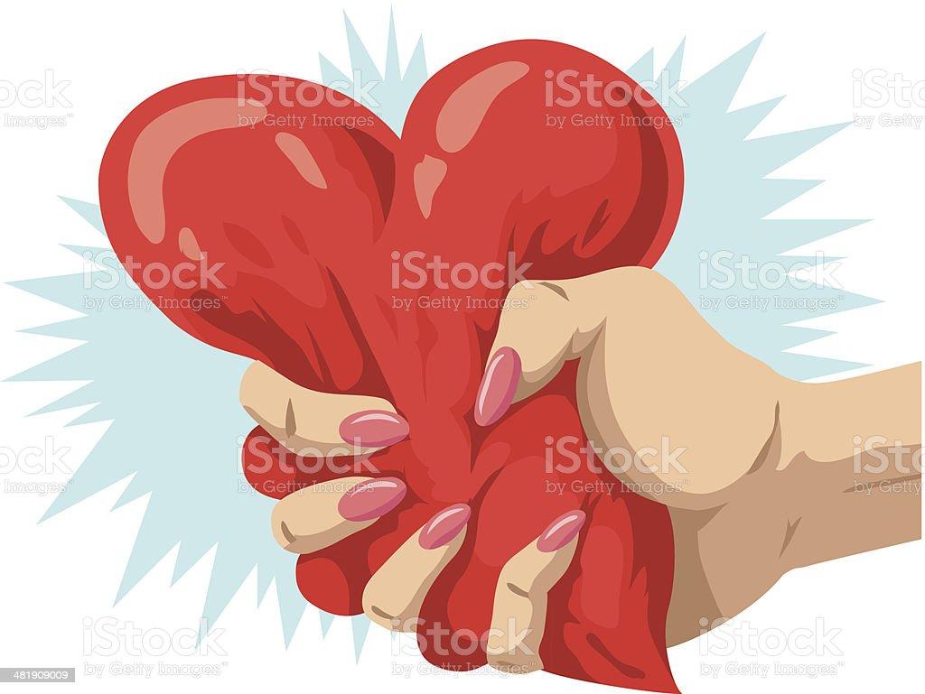 Heartbreaker vector art illustration