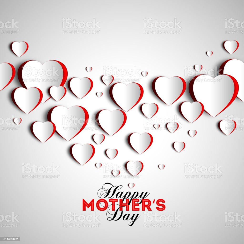 heart-mom-background vector art illustration