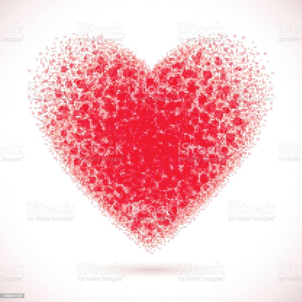 Heart-pink vector art illustration