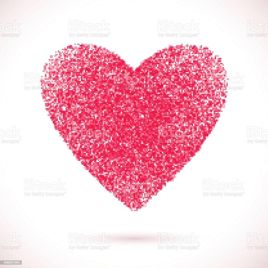 Heart-pink-light vector art illustration
