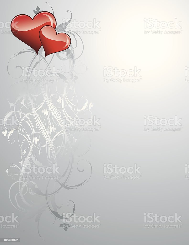 Hearts and Silver royalty-free stock vector art