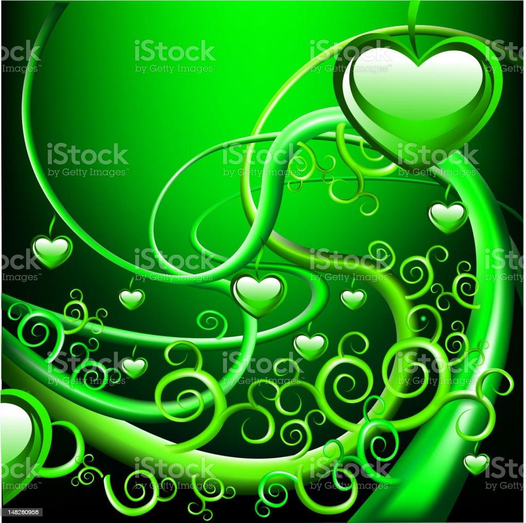 Hearts background vector art illustration