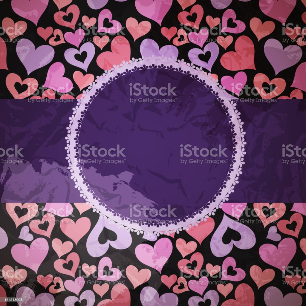 Hearts Background Vector ith sample text royalty-free stock vector art