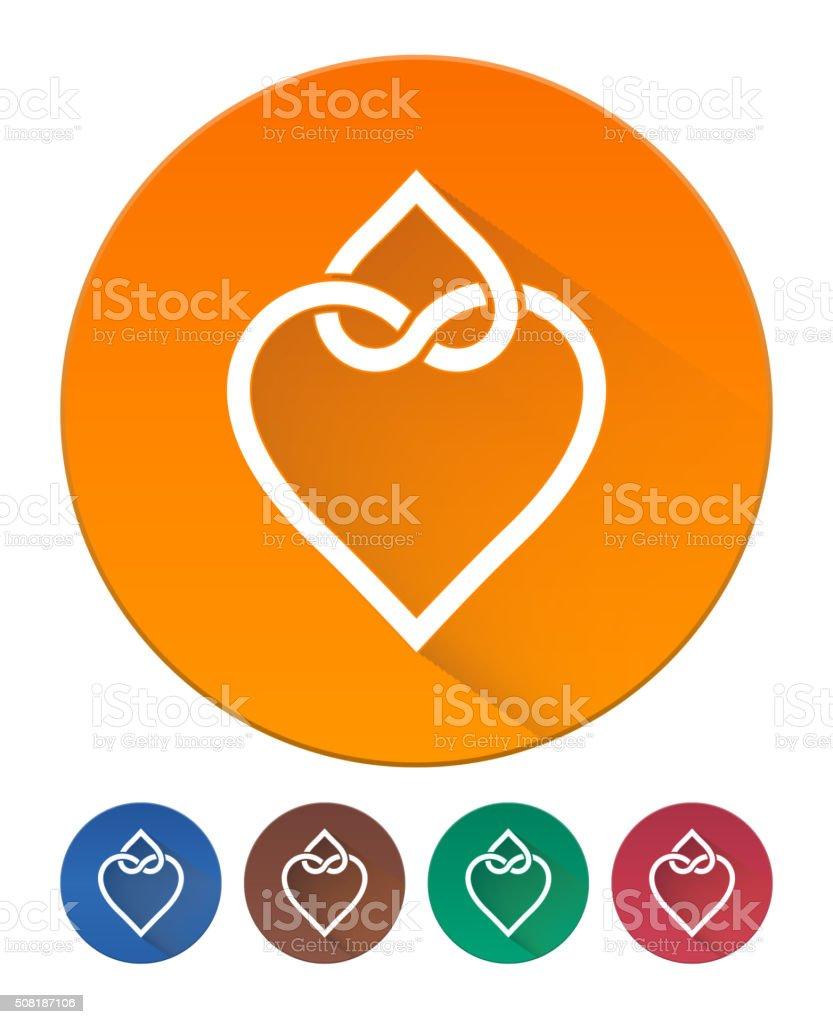 Hearts Icon Flat vector art illustration