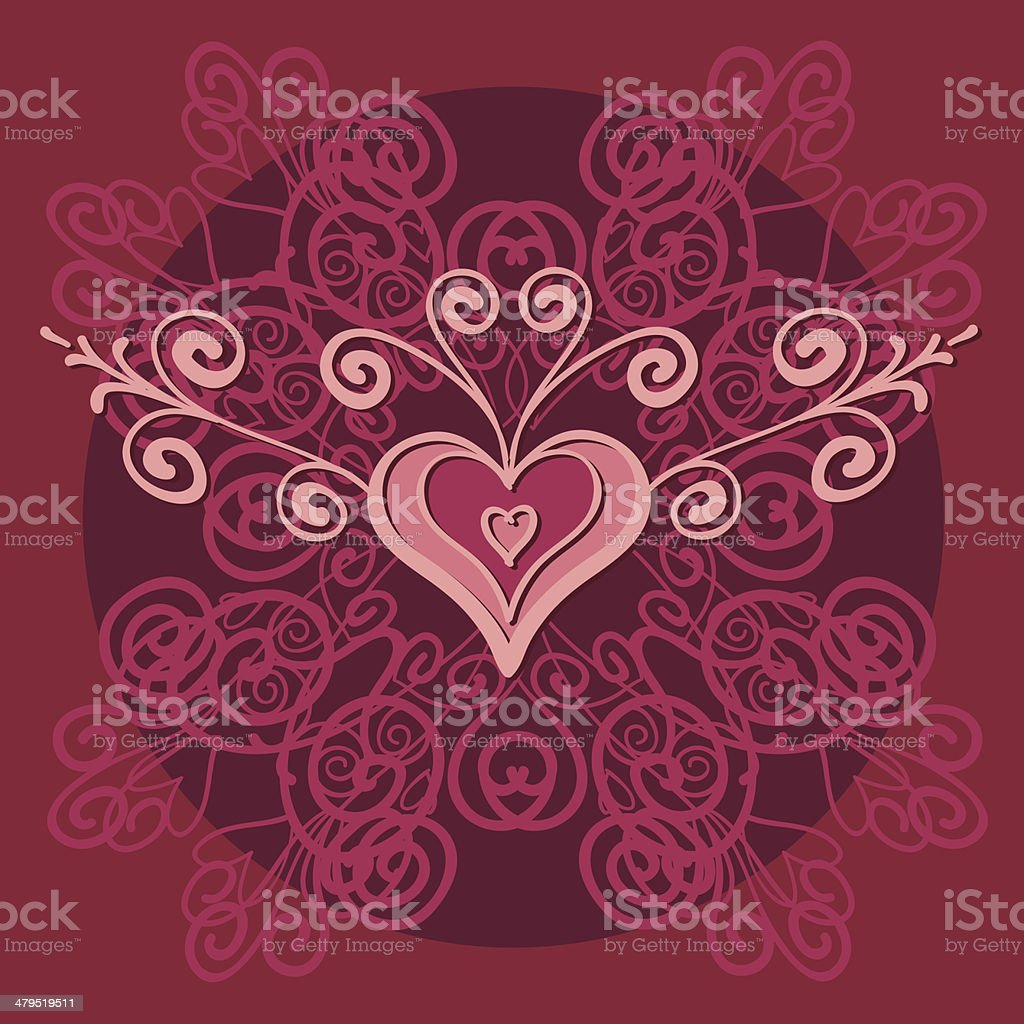 Hearts ornament/background royalty-free stock vector art