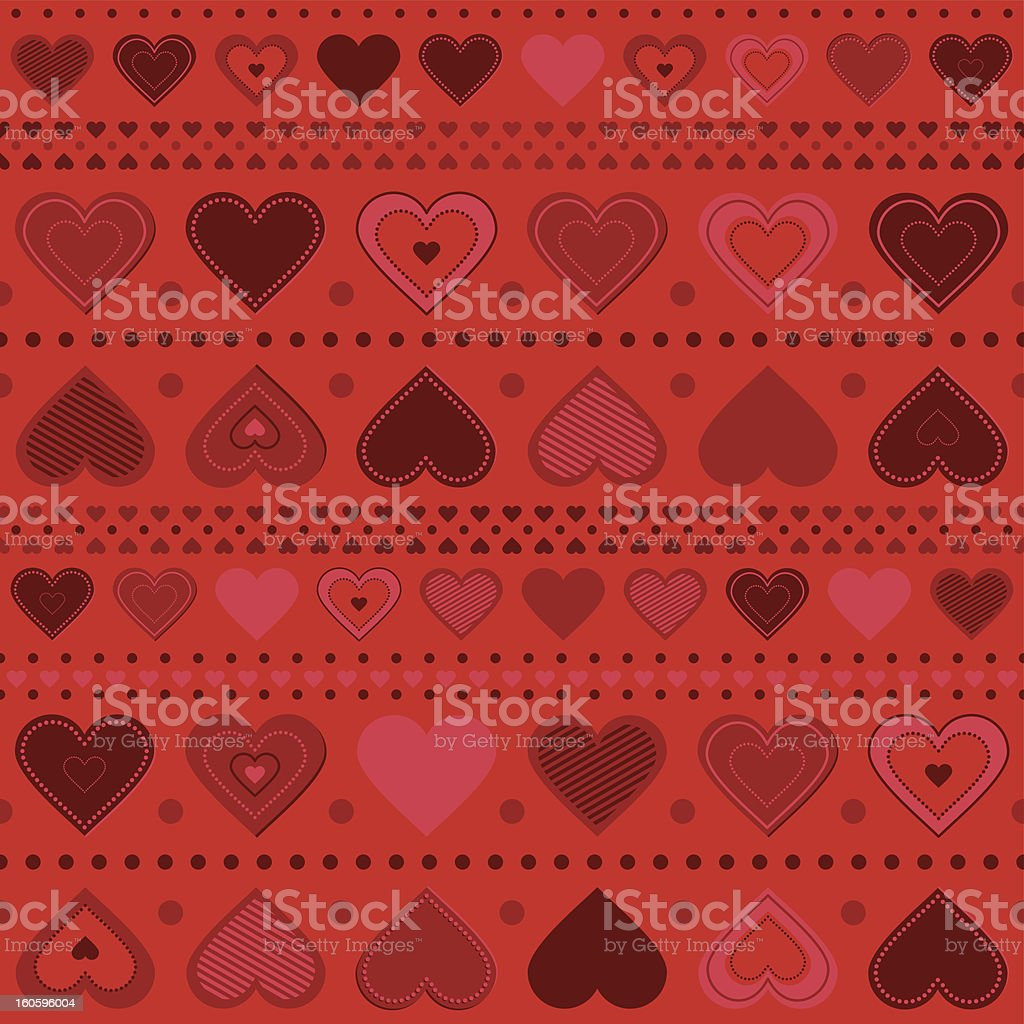 hearts pattern royalty-free stock vector art