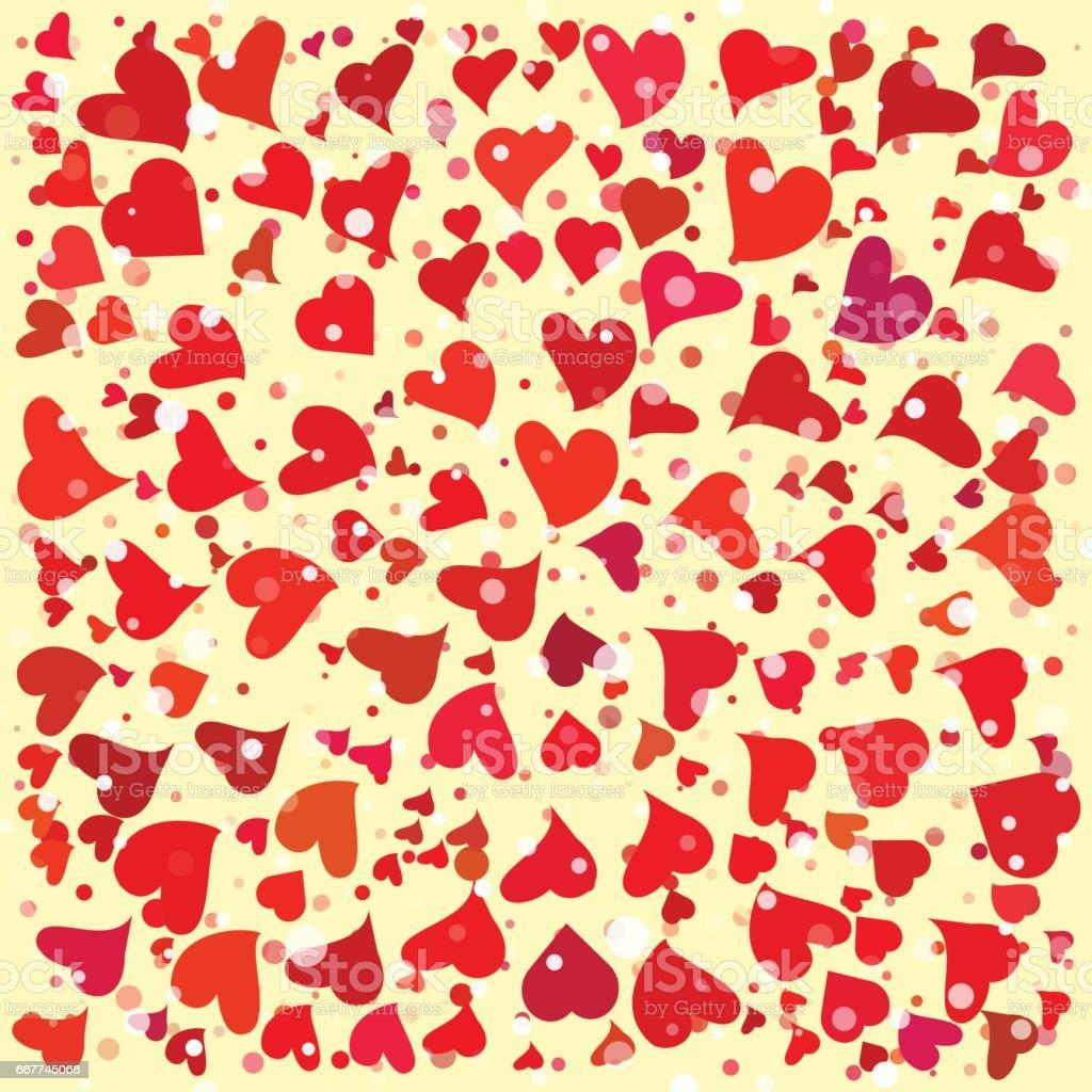 Hearts round background template. Halftone circle vector illustration. vector art illustration