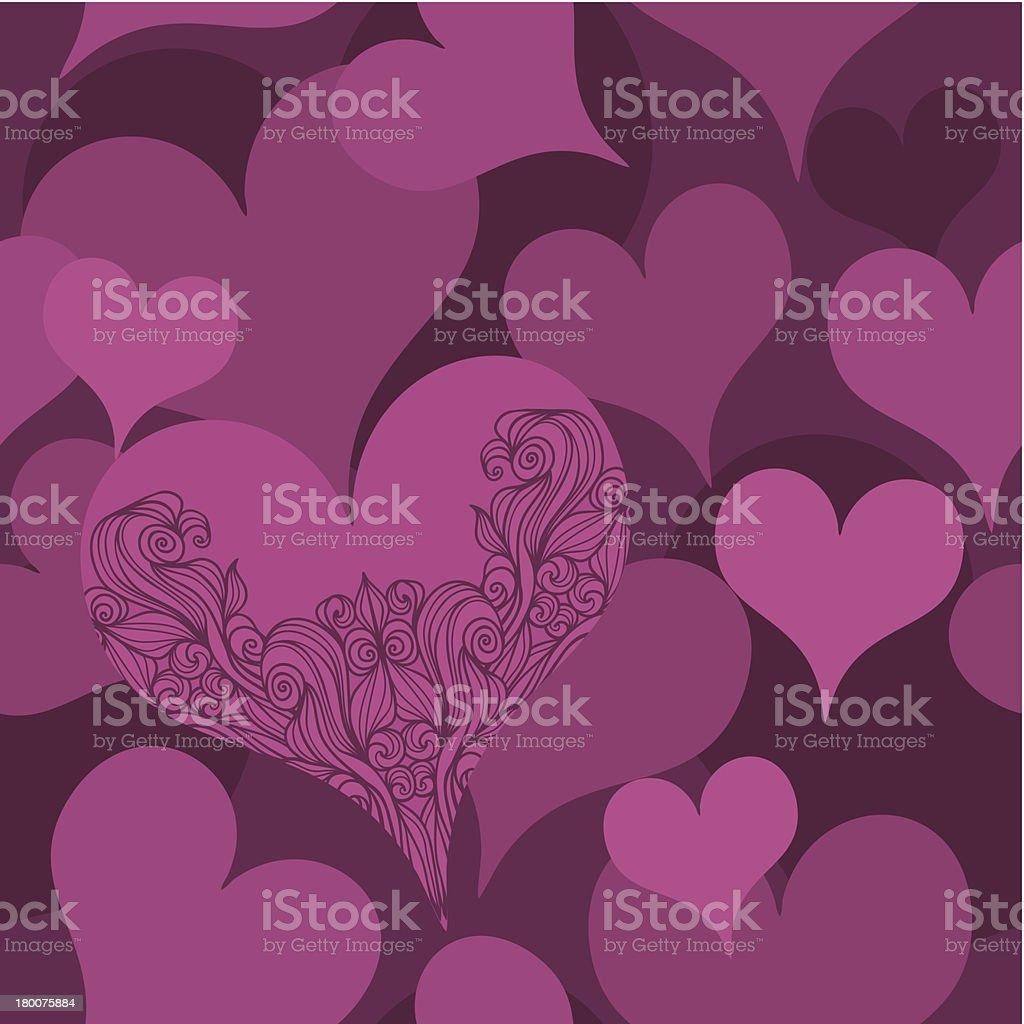 Hearts Seamless Pattern royalty-free stock vector art